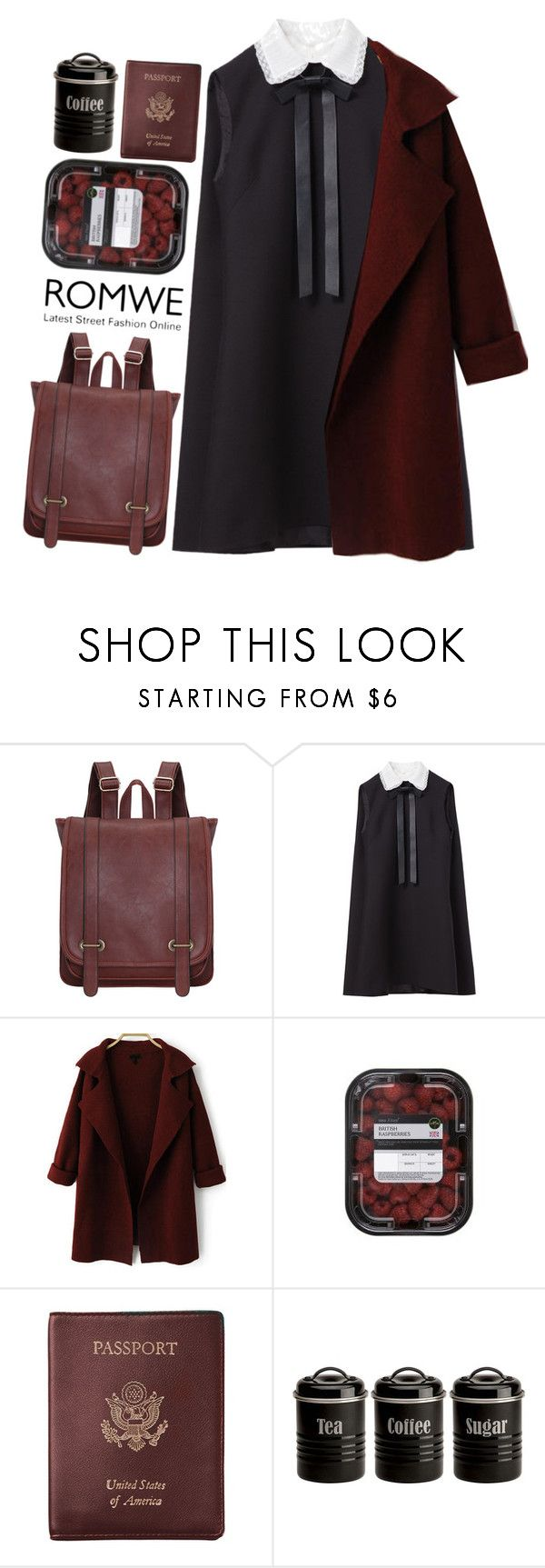"""""""#Romwe"""" by credentovideos ❤ liked on Polyvore featuring Valentino, Royce Leather and Typhoon"""