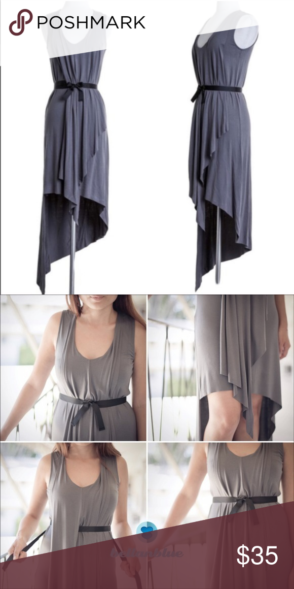 NWOT The Lynde Sleeveless Asym Dress in Charcoal | My Posh Picks ...