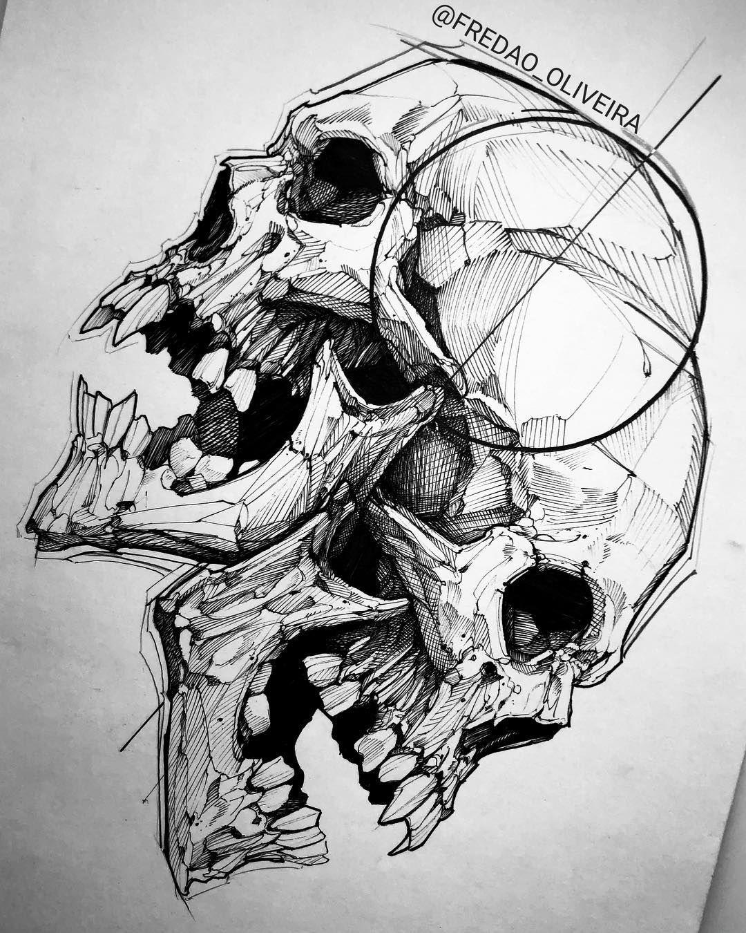 Skull Always Good To Practice Blackworkerssubmission Darkartists Btattooing Blac Skull Art Tattoo Design Drawings Skull Art Tattoo
