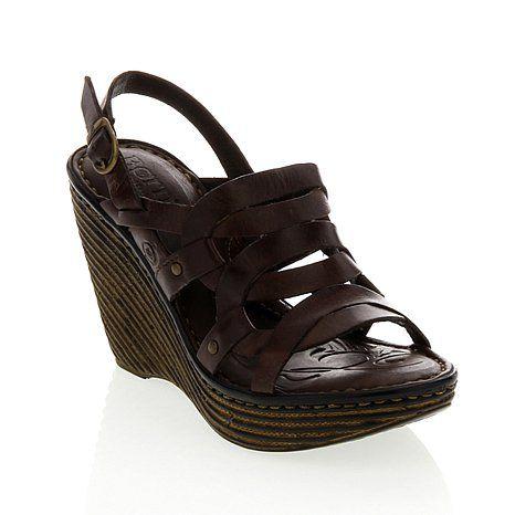"Born ""Genesis"" Leather Wedge Sandal"