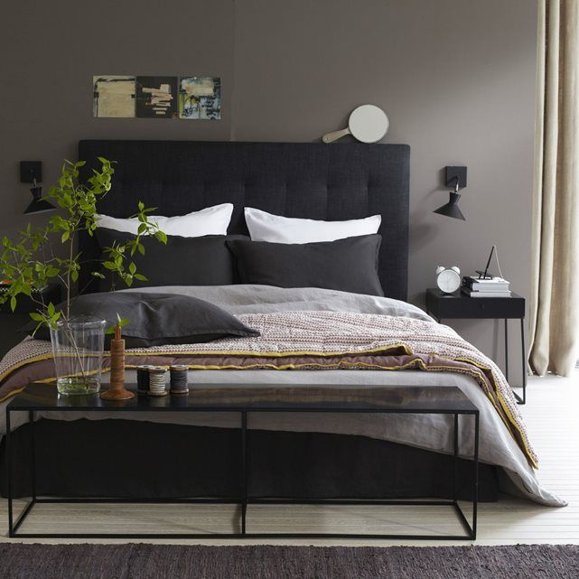 t te de lit capitonn e selve hauteur 120 cm chemin vert. Black Bedroom Furniture Sets. Home Design Ideas