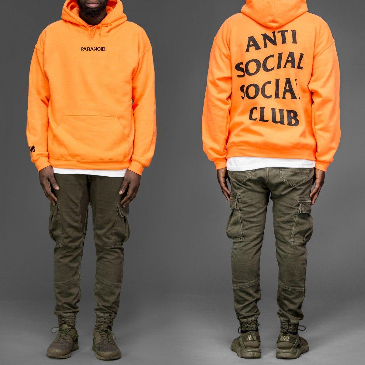 a8a4a5df567a Orange Anti Social Social Club Paranoid hoodie