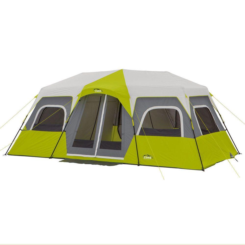 Core Equipment 12 Person Instant Green Grey Cabin Tent 18'X10' | eBay