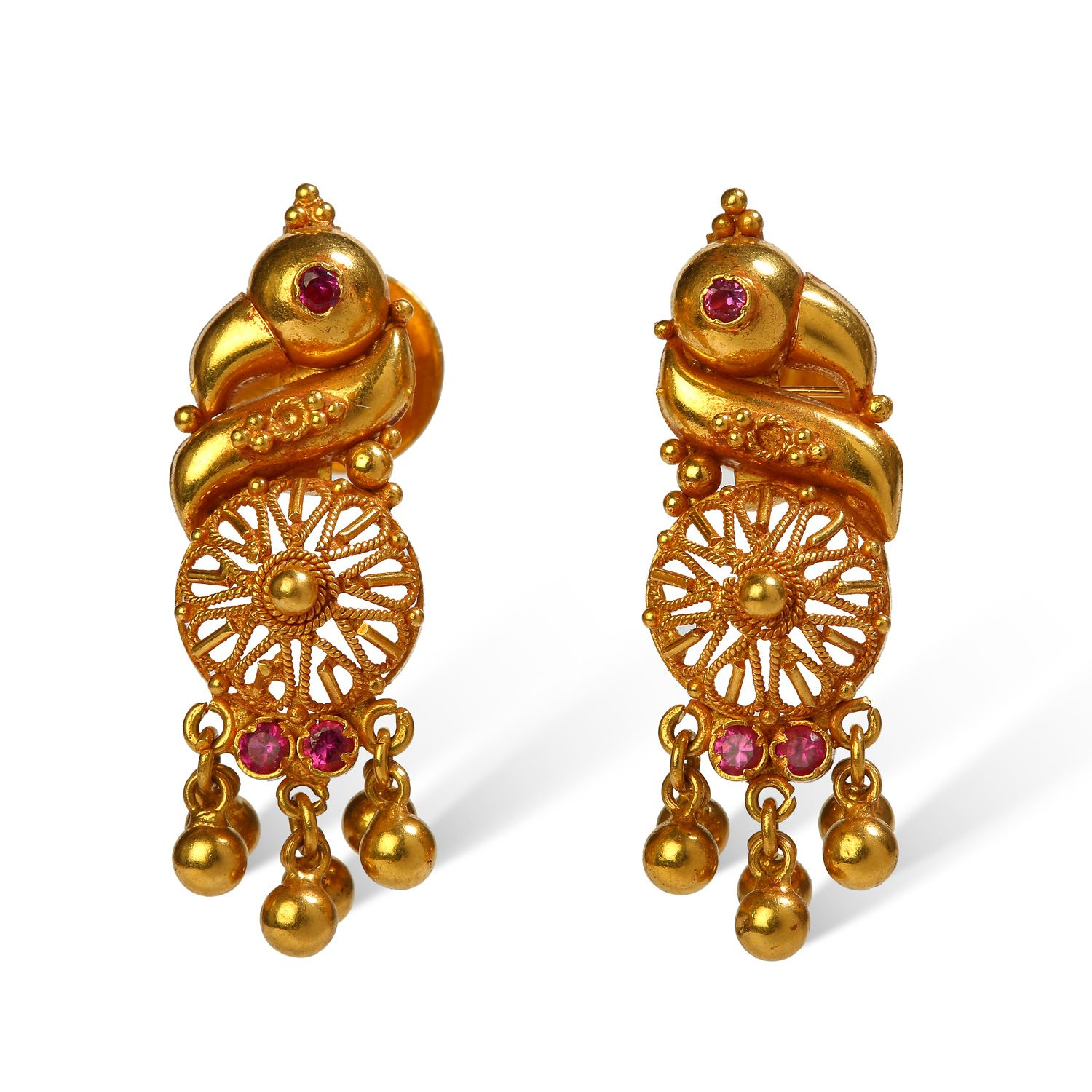 bhima jewellers collections - Google Search   Gold Earrings ...