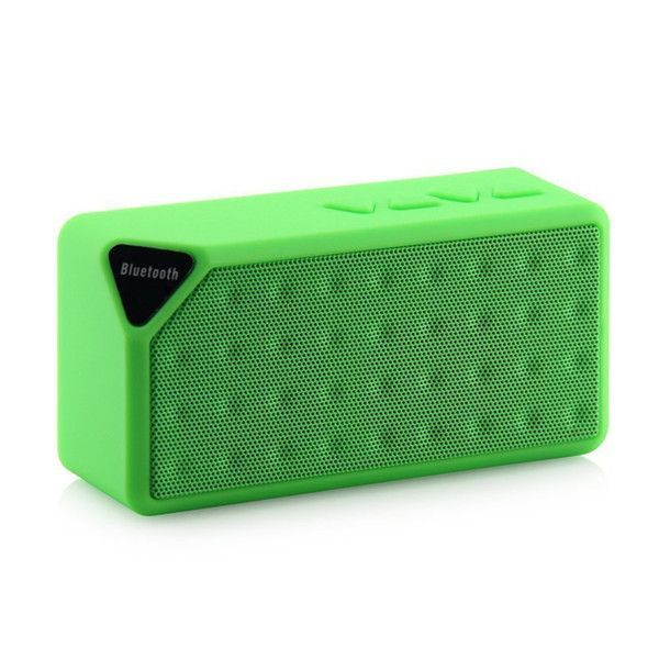 M&J Mini Bluetooth Speaker X3 TF USB FM Radio Wireless Portable Music Sound Box Subwoofer Loudspeakers With Mic For Phone PC