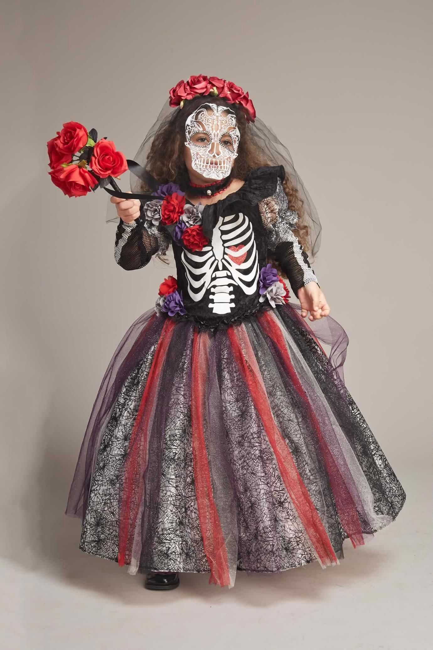 Day Of The Dead Catrina Costume For Girls - Catrina costume, Costumes and Chasing fireflies