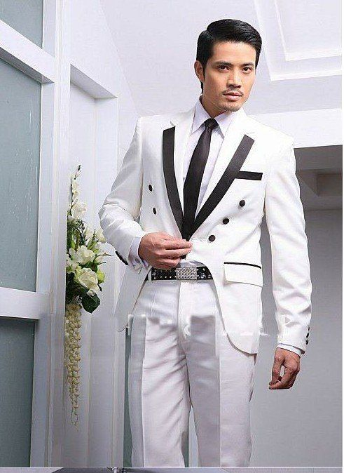 mens dress marriage ceremony | Best Hot sell mens light white colour groom wedding dress wear suit ...