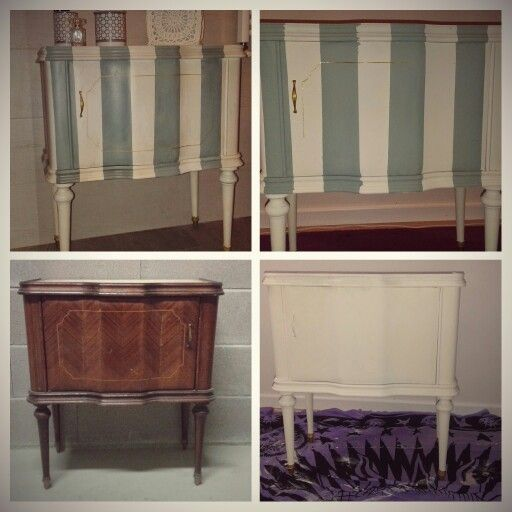 Comodino stile provenzale con chalk paint duck egg blue | Idee per ...
