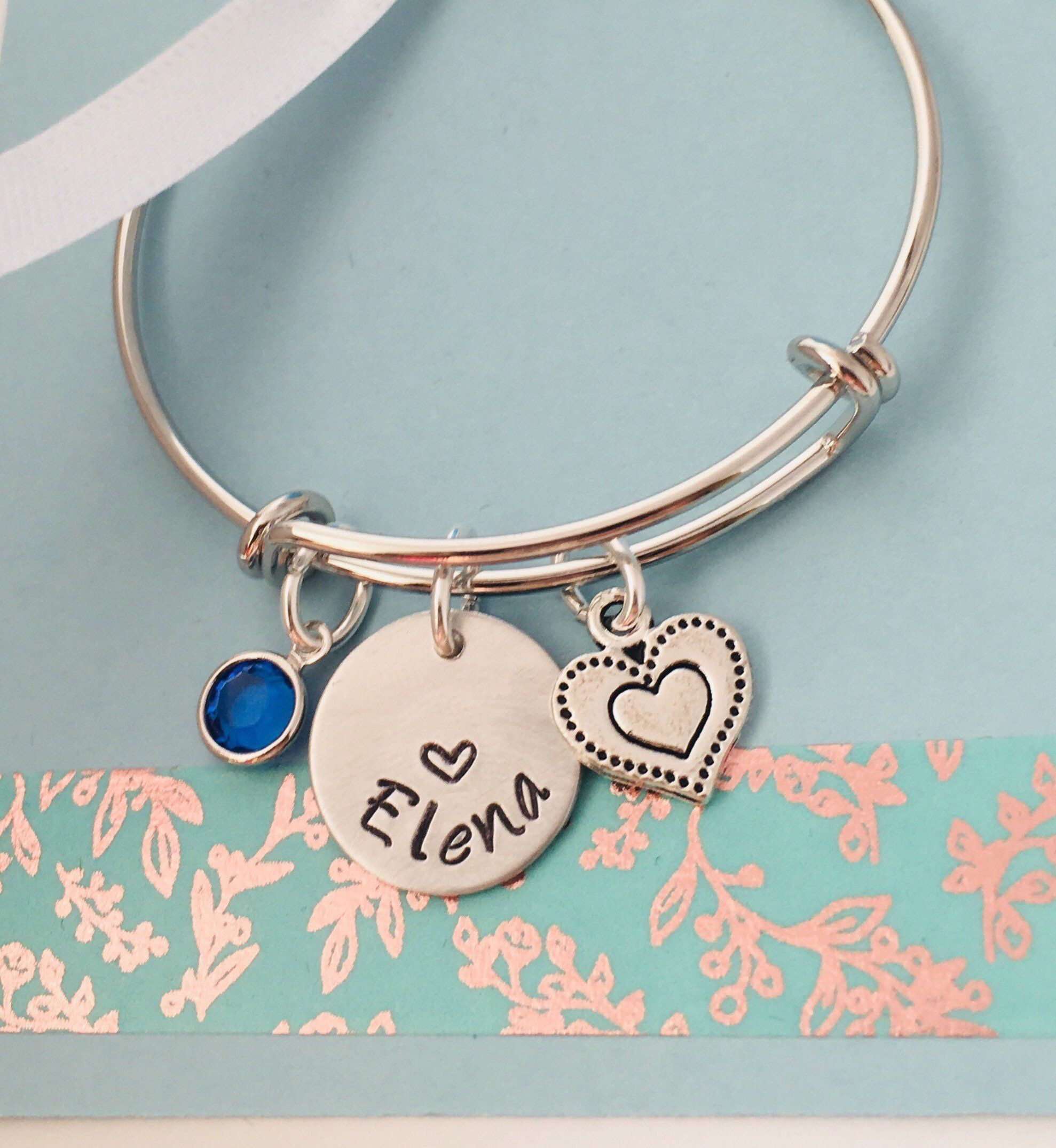 Personalized name bangle bracelet name bracelet silver