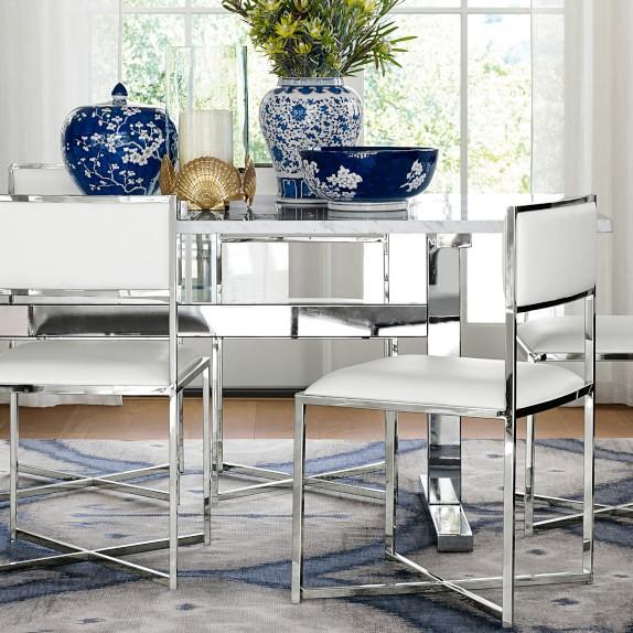 Mercer Rectangular Dining Table With Carrara Marble Top Williams Sonoma Rectangular Dining Table Dining Table Marble Formal Dining Room Sets