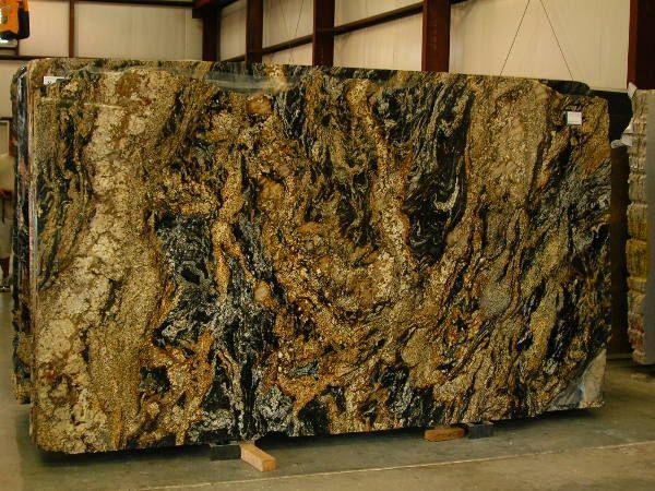 Magma Brown Granite Slab Rich Swirling Lava Flow