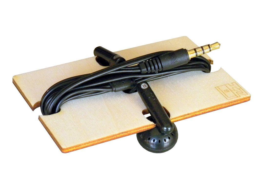 laser cut wood earphone holderwood cord earphone cord holderwood earbud earbud organizer