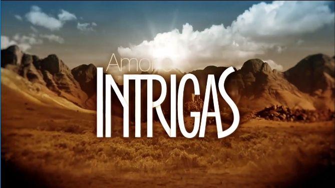 Logo Amor e Intrigas (grafismo de O Rico e  Lázaro) - 2017