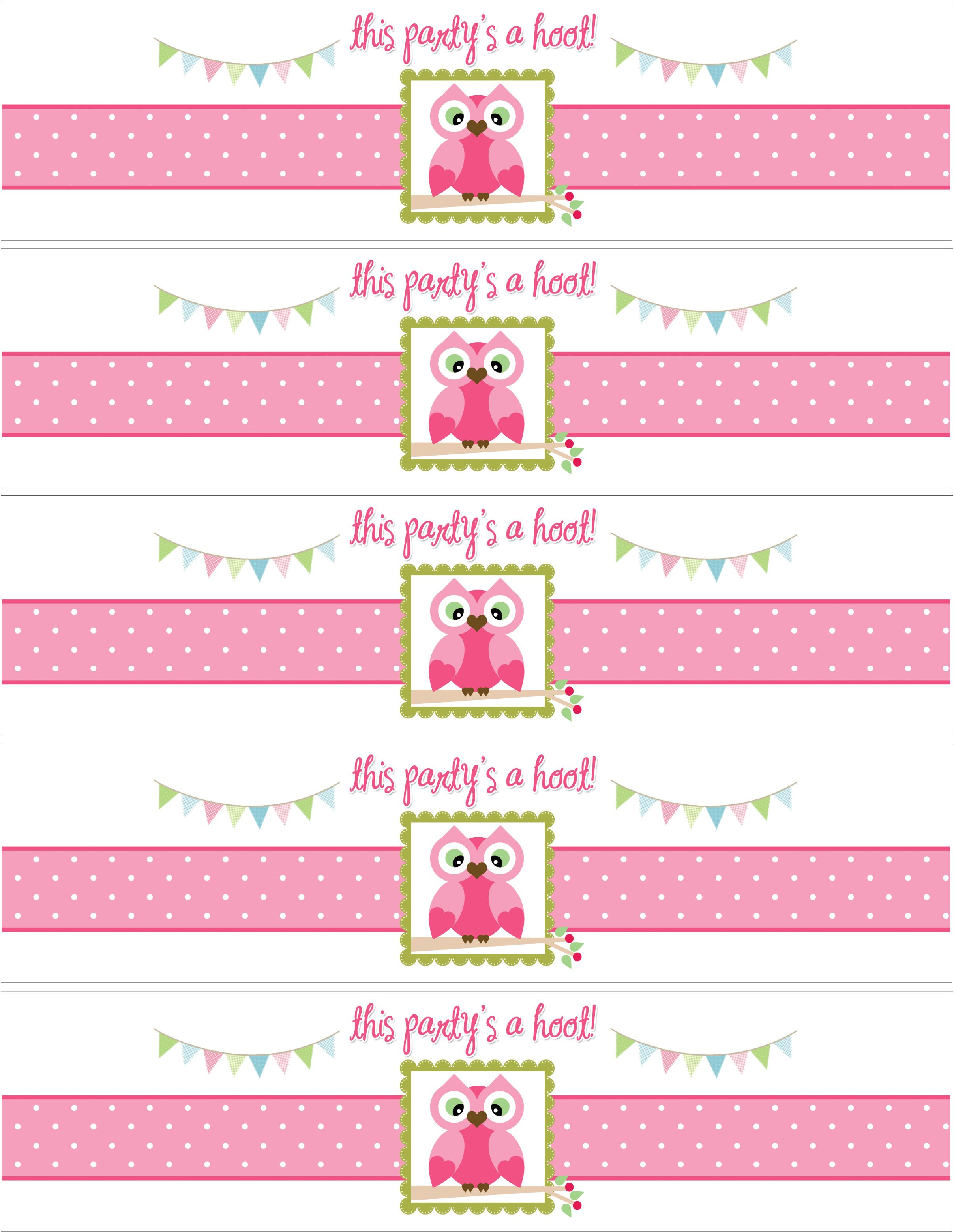 Owl Themed Birthday Party with FREE Printables | Free birthday ...