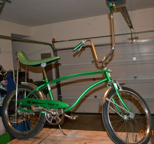 Vintage 1970s Green Huffy Rail Trophy Cs Muscle Bike Schwinn Style