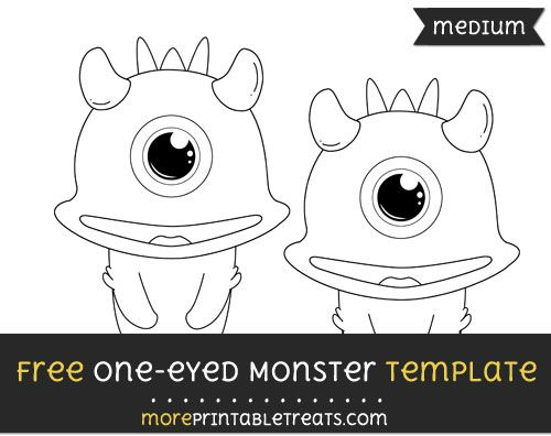 Free One Eyed Monster Template - Medium Shapes and Templates