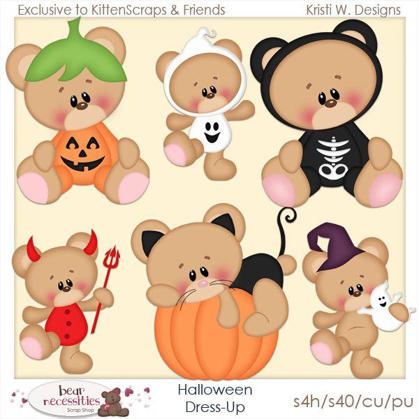 Halloween Dress Up-Templates-Exclusive to Store {CU}  Kitten Scraps - halloween template