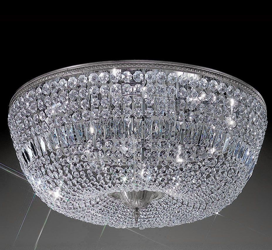 Crystal Baskets Collection 36 Dia Extra Large Brass Crystal
