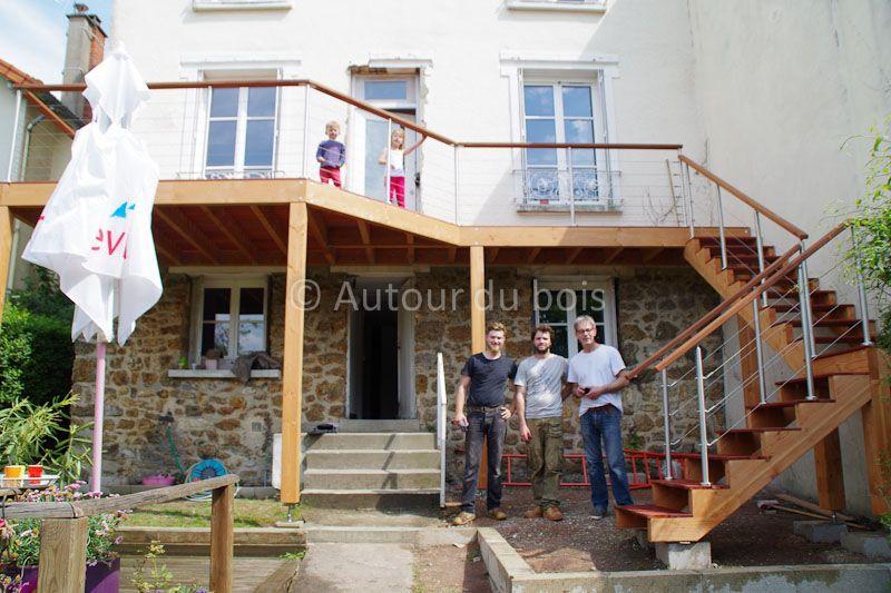 Terrasse bois suspendue sur pilotis et balcons bois à Angers - Terrasse Bois Pilotis Prix