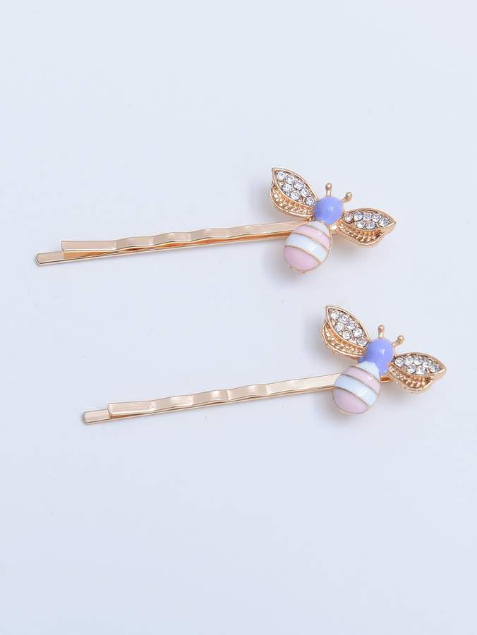 3ba5aed8f9 Shein Bee Decorated Hair Clip 2pcs | Products in 2019 | Hair clips ...