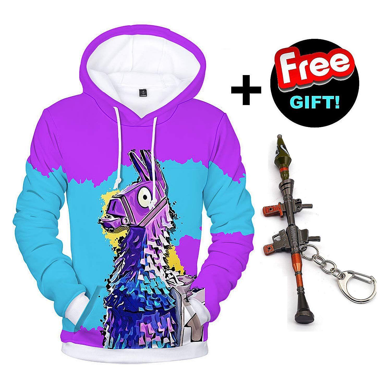 3D Print Hoodie Kids Boy Girl Jacket Sweatshirt Long Sleeve Pullover Jumper Tops