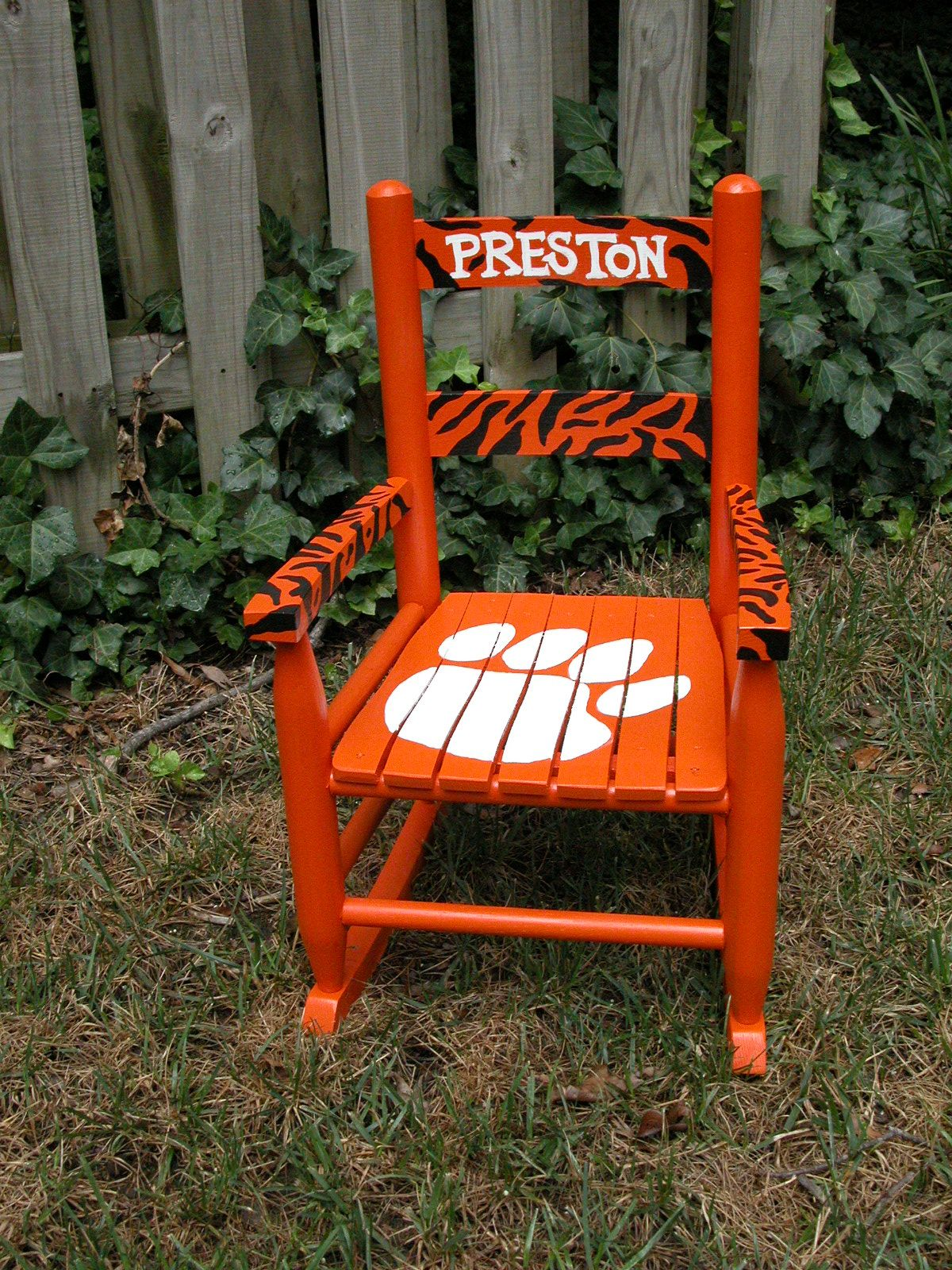 Hand painted tiger rocking chair DIY Pinterest