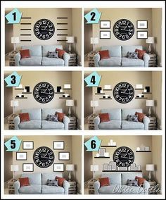 was looking for ideas on how to decorate around  large wall clock also finally rh pinterest