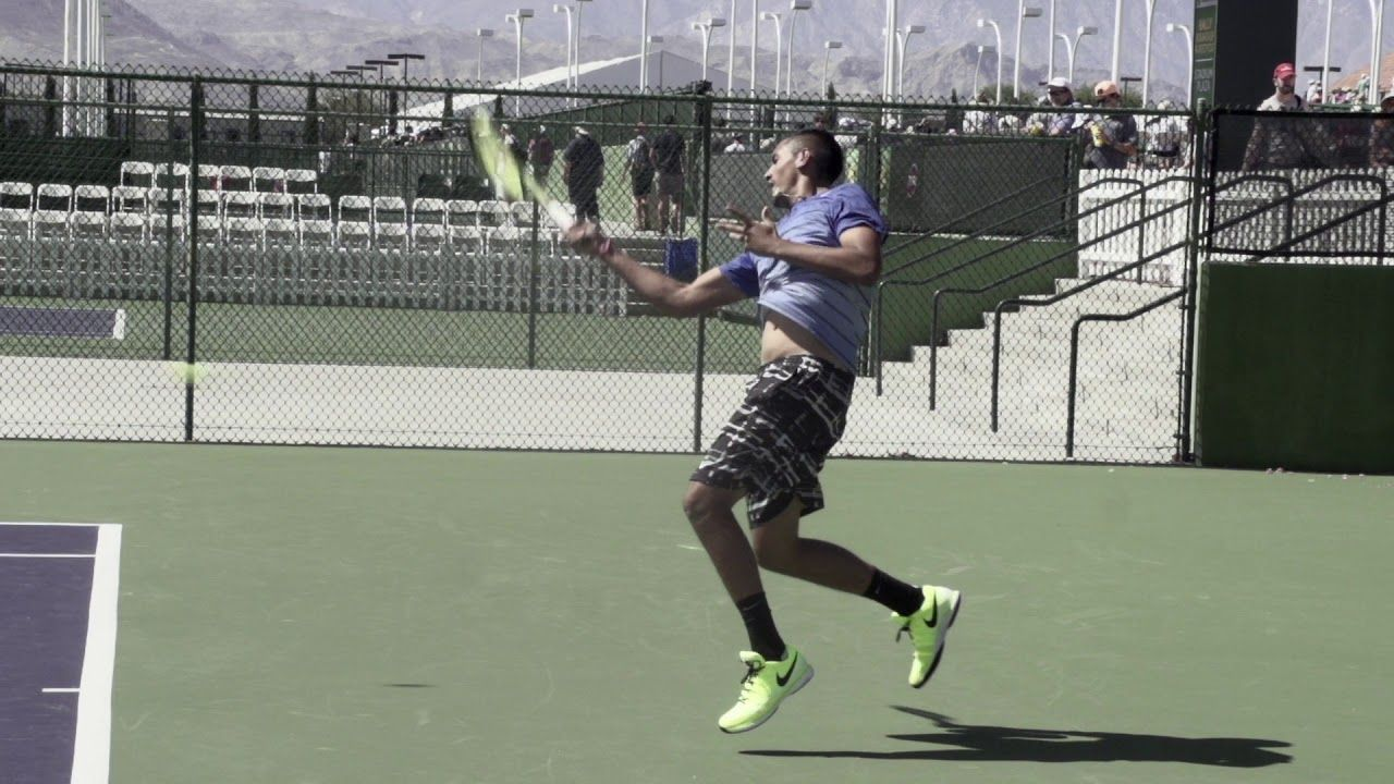 Nick Kyrgios Forehand Slow Motion Top Tennis Training