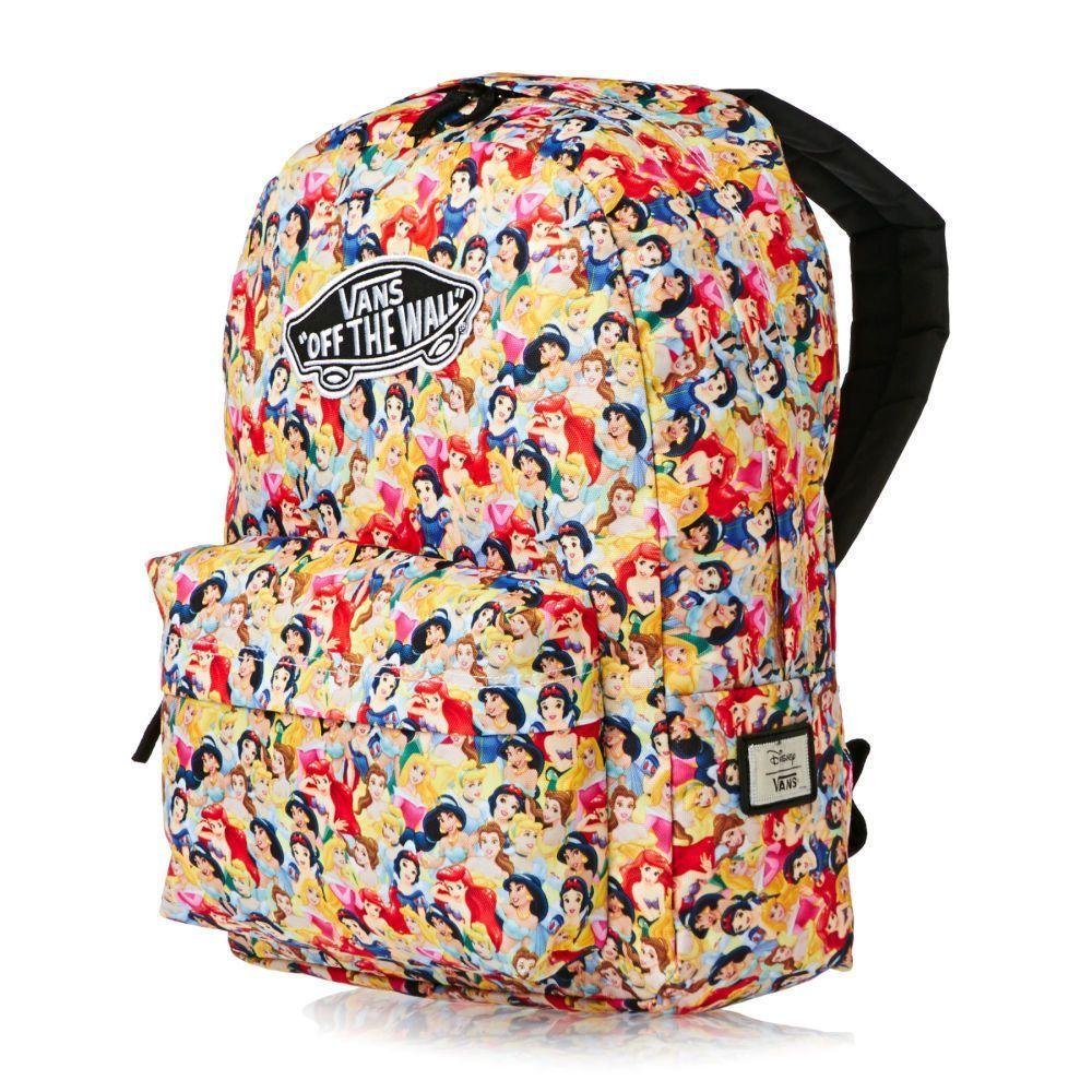 a6841025f9 Vans Off The Wall Women S Disney Princess Cinderella Ariel School Backpack  Bag