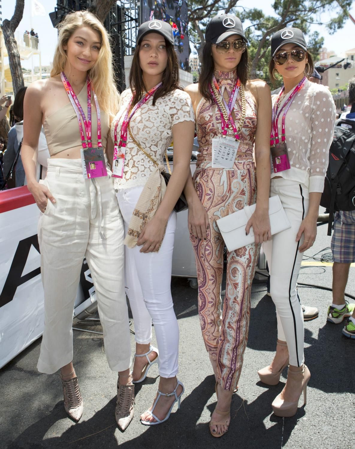 hadidnews: May 24: More of Gigi Hadid, Bella Hadid, Kendall Jenner and Hailey Baldwin at the F1 Grand Prix of Monaco, Monte-Carlo