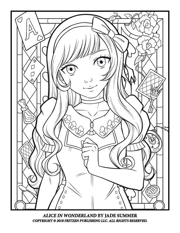 Alice In Wonderland Jade Summer Summer Coloring Pages Coloring Books Cute Coloring Pages