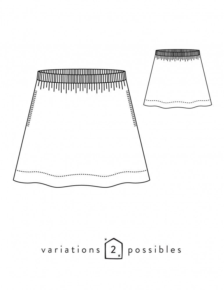 a611999dd02b Jupe évasée entièrement réalisée en coutures anglaises pour des finitions  parfaites. Sa taille élastiquée offre