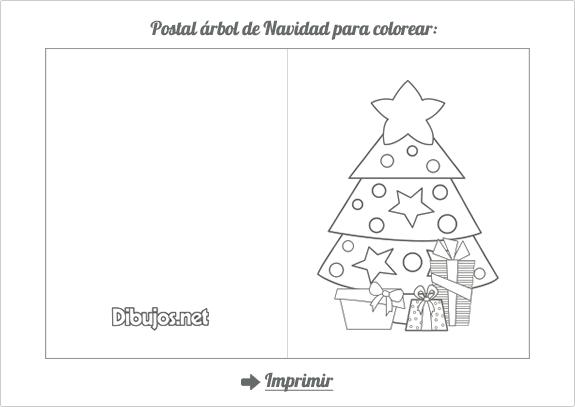 Portal De Arbol De Navidad Para Colorear Tarjetas De Navidad