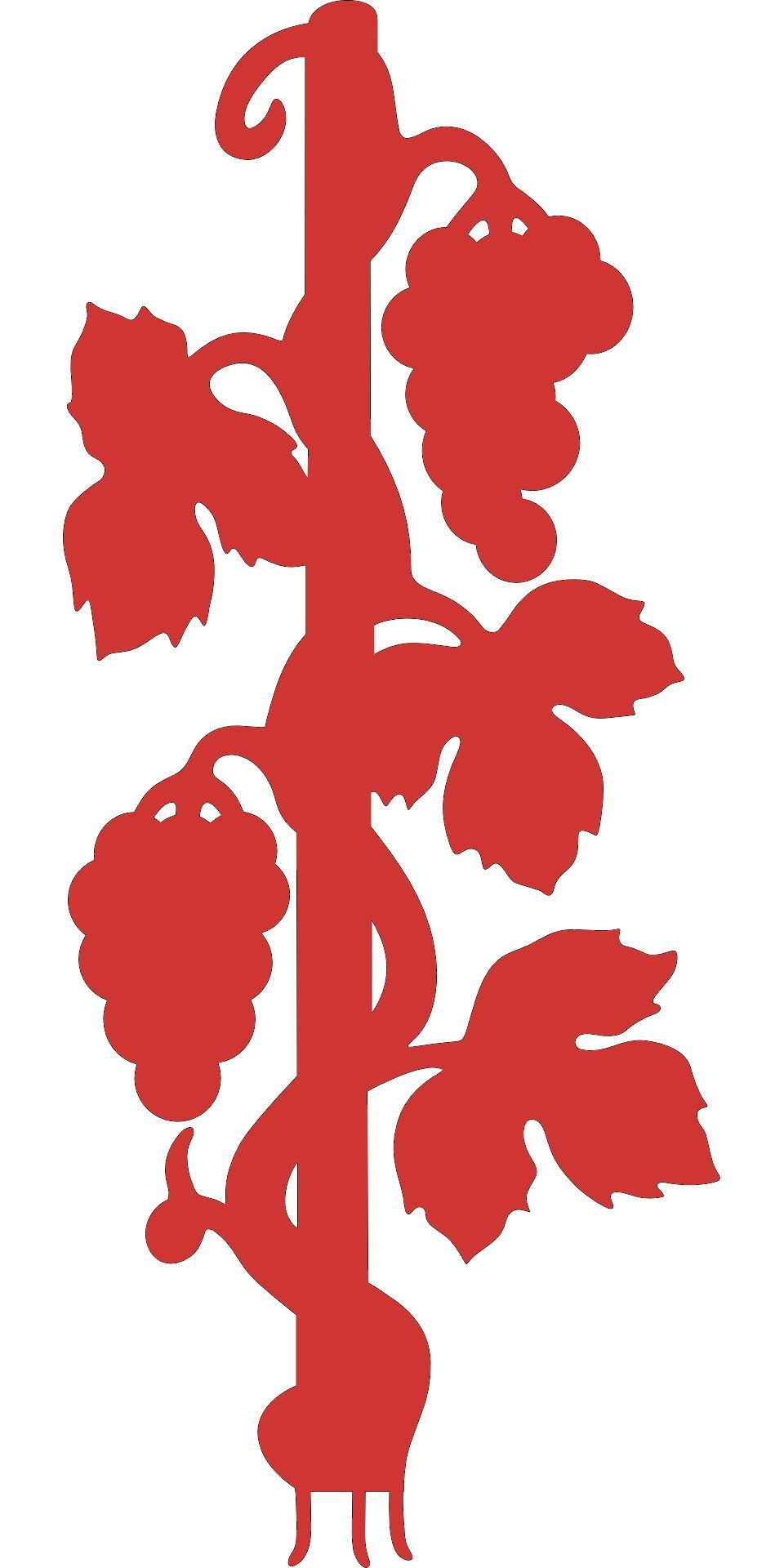 Grape Vine Decal