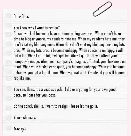 Cheeserland How to write a resignation letter humor Pinterest