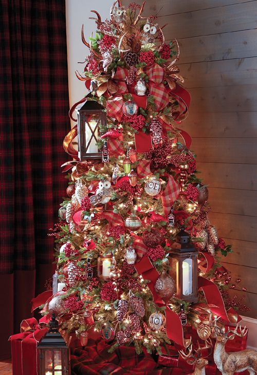 RAZ 2017 Copper Mountain Tree | Pre decorated christmas ...