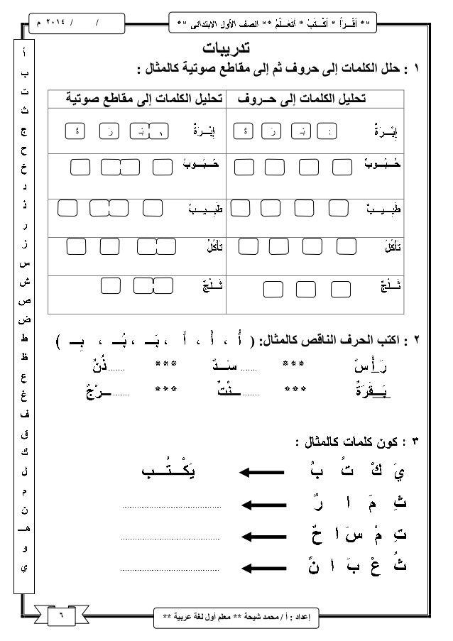 شرح منهج اللغة العربية للصف الأول الابتدائى ترم اول Learning Arabic Arabic Alphabet Letters Arabic Alphabet For Kids