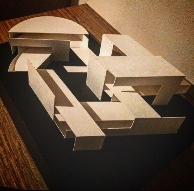 Superior Architecture Model Basic Design Letters Connected E And J From Top Mimari  Temel Tasarım Harflerin Soyutlanması