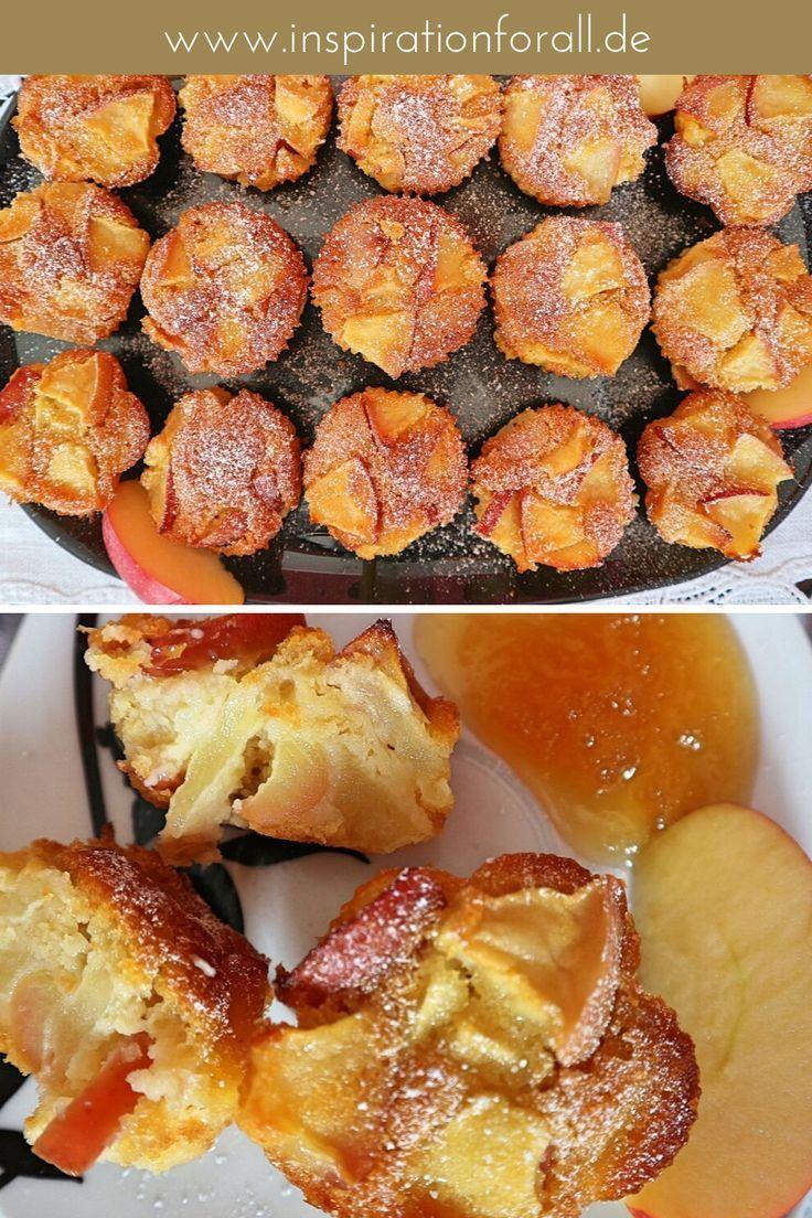 Apfel-Honig-Muffins fruchtig-zart – sehr einfaches Rezept ohne Zucker