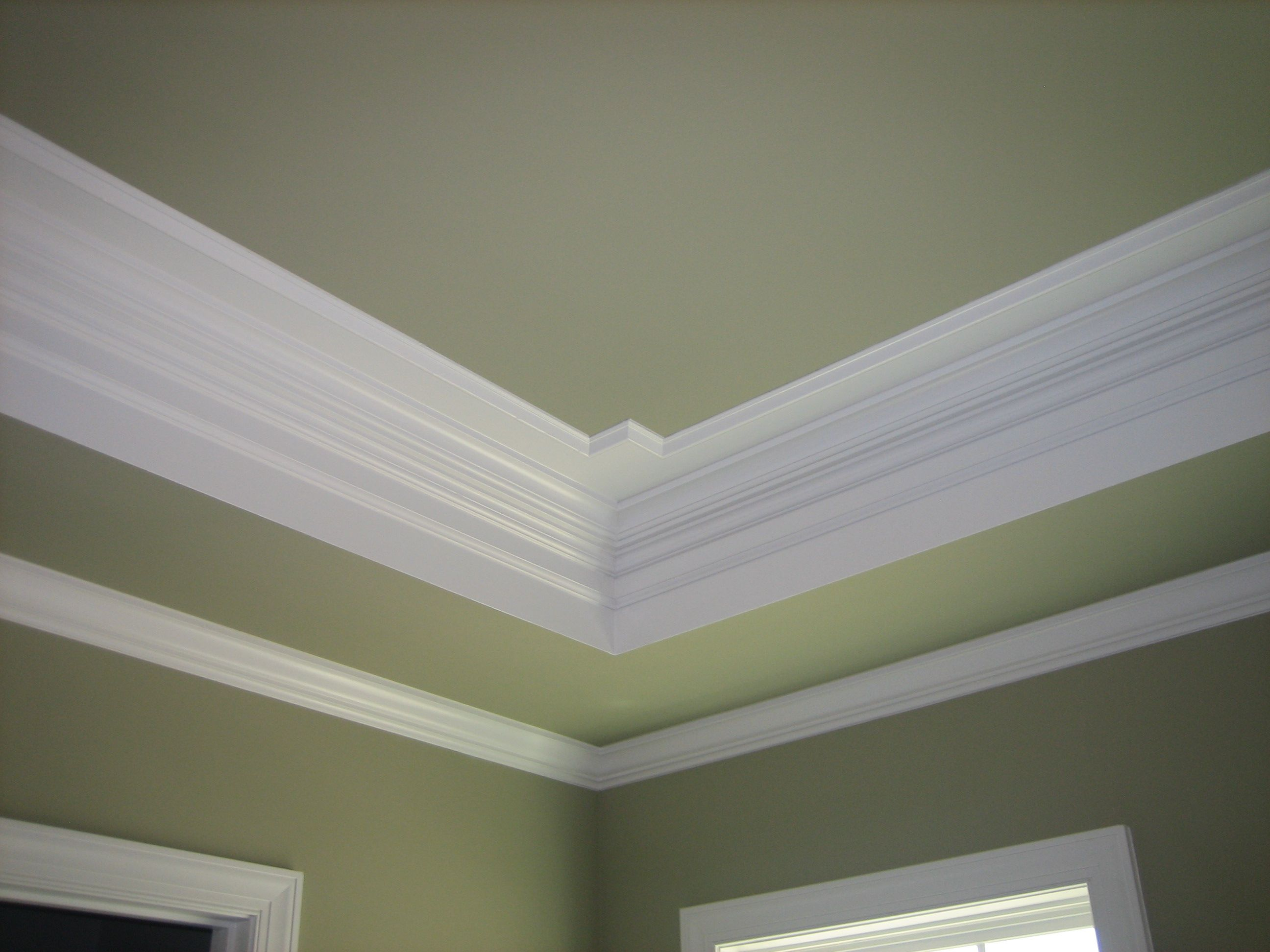 painted tray ceiling pictures paint home design with crown molding bedroom elegant - Ceiling Molding Design Ideas