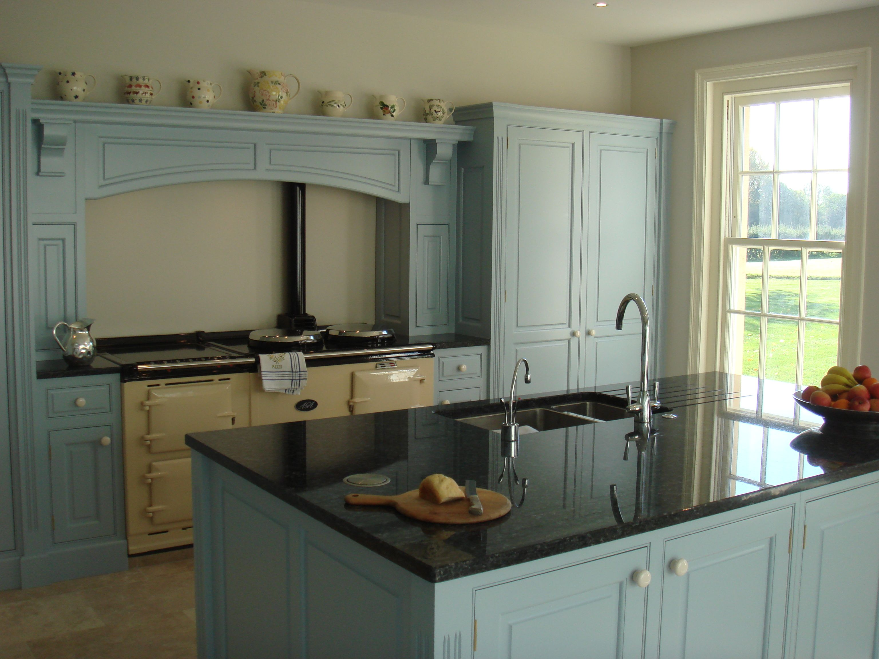 Best Cream Aga With Palma Blue Farrow And Ball Painted Units 400 x 300