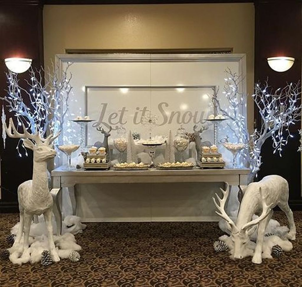41 Diy Christmas Decorations: 41 Fascinating Winter White Party Decoration Ideas