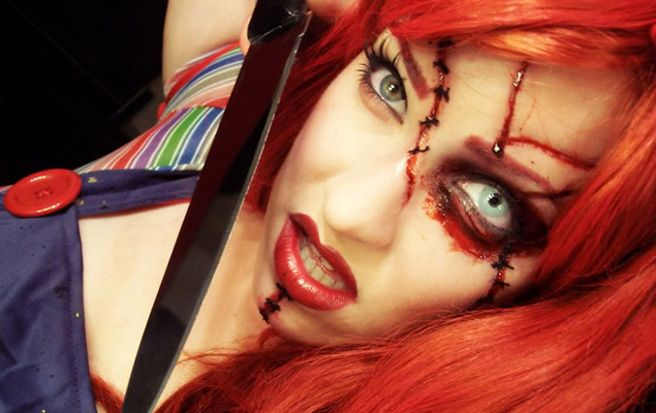 A lot of fun ways to incorporate this makeup into a costume - cool halloween costumes ideas