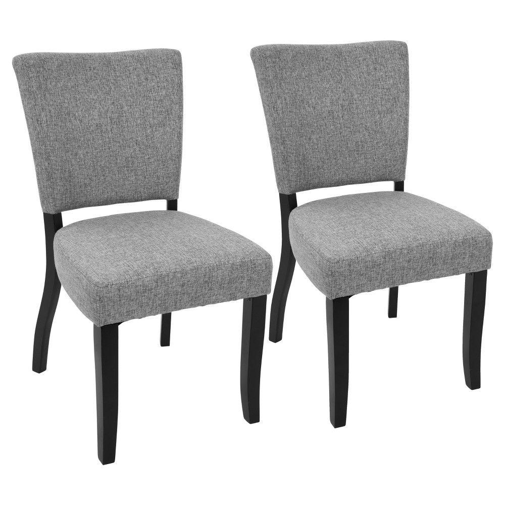 Vida Contemporary Dining Chair With Nailhead Trim Cream Set Of
