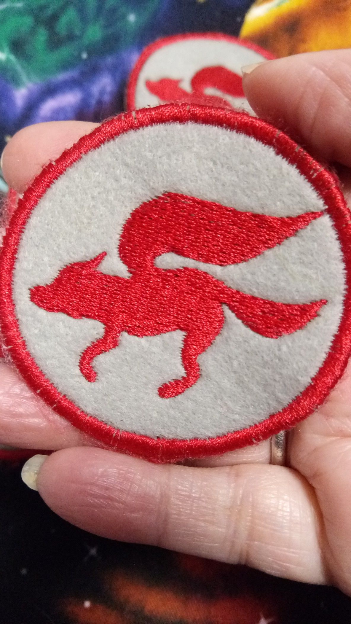 Available in sew on iron on velcro custom patches
