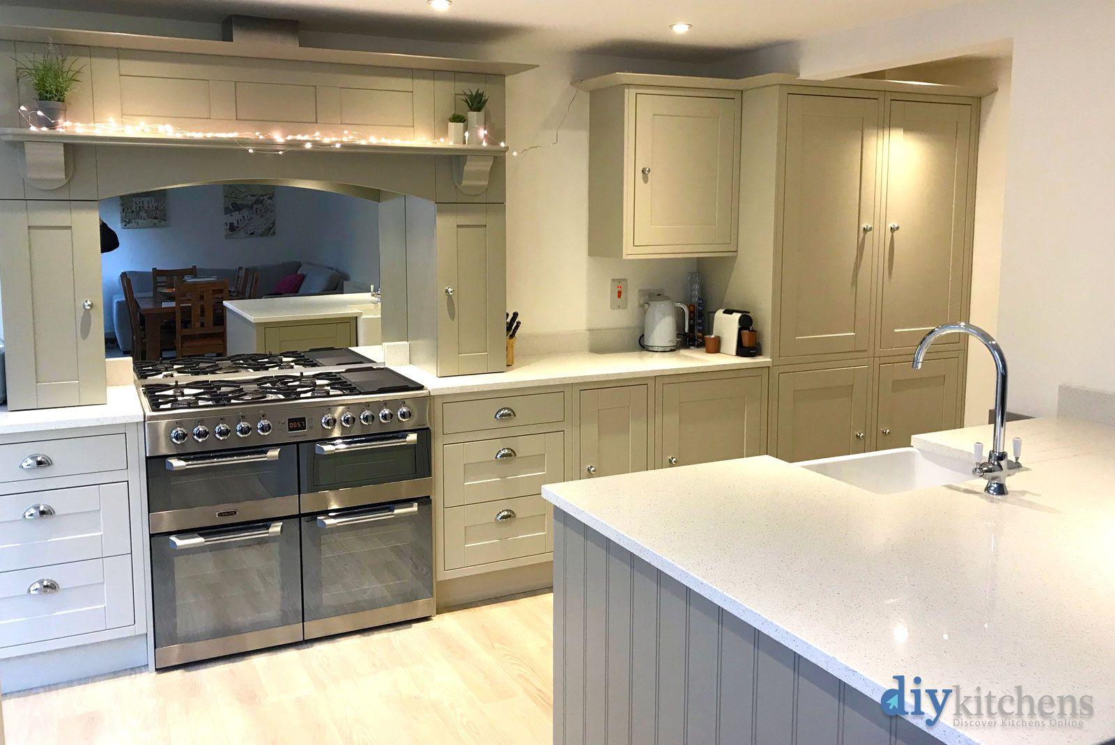 An Innova Harewood Mussel Inframe Kitchen Real Kitchen Kitchen