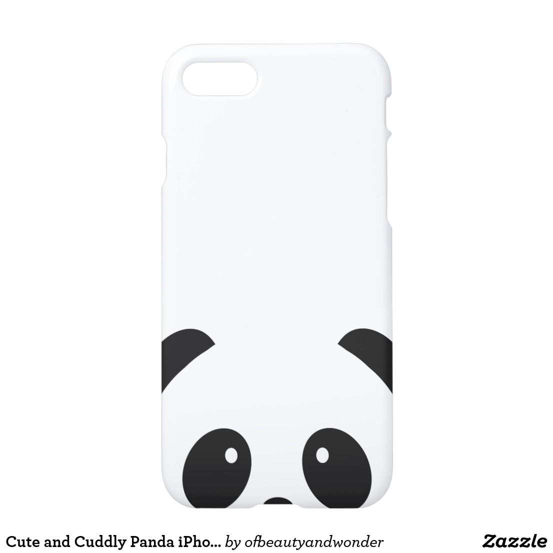huge selection of 76853 7cc03 Cute and Cuddly Panda iPhone X Phone Case | Zazzle.com in 2019 ...