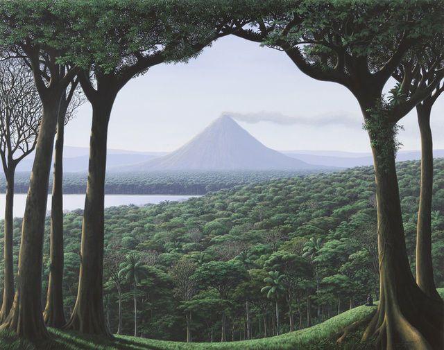 Contemplador del volcan, 2012.