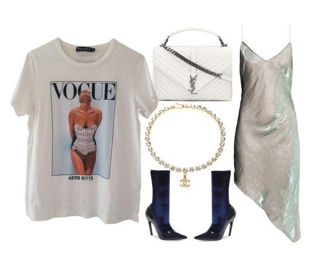 Untitled #708 by styledbymaryz on Polyvore featuring moda, H&M, Dolce&Gabbana, Balenciaga and Yves Saint Laurent