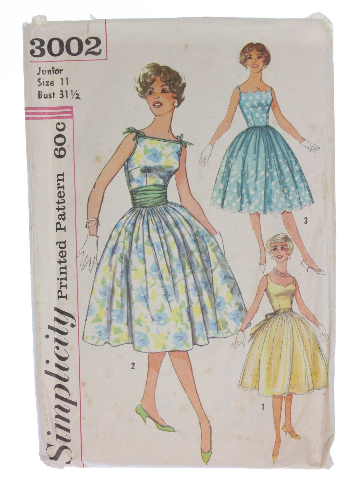 1950\'s Simplicity Pattern No. 3002 Womens Pattern
